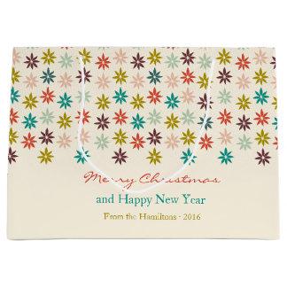 Sacola Para Presentes Grande Feriados festivos da poinsétia do Feliz Natal