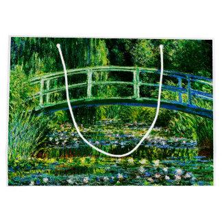 Sacola Para Presentes Grande Lagoa do Monet-Água-Lírio de Claude