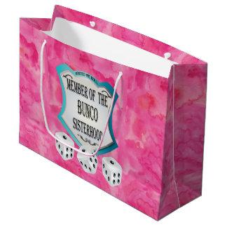 Sacola Para Presentes Grande Noite cor-de-rosa bonito das meninas do