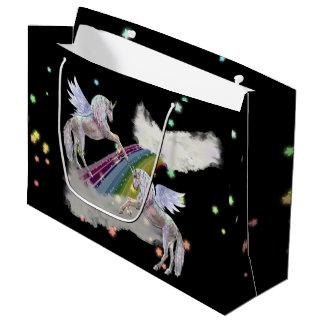 Sacola Para Presentes Grande Saco do partido mágico dos unicórnios e do
