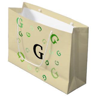 Sacola Para Presentes Grande Saco do presente (Lrg) - letras misturadas nos