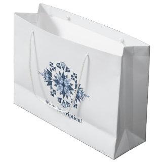 Sacola Para Presentes Grande Saco nevado do presente do Mandala-Costume -