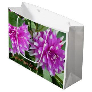 Sacola Para Presentes Grande Um saco especial do presente da flor para um