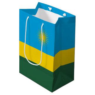 Sacola Para Presentes Média Bandeira de Rwanda