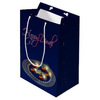 Sacola Para Presentes Média Diwali feliz Ganesha Rangoli - saco médio do