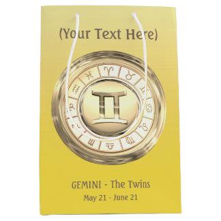 Sacola Para Presentes Média Gêmeos - o sinal do zodíaco dos gêmeos