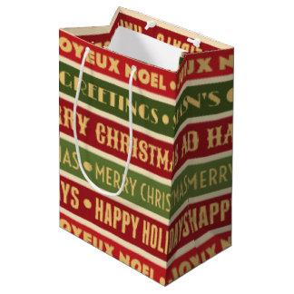 Sacola Para Presentes Média Memórias do Natal