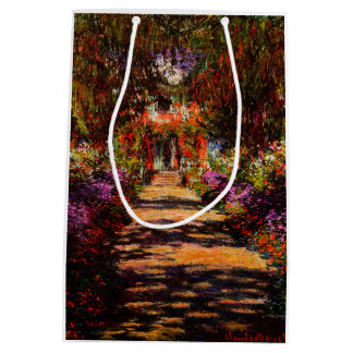 Sacola Para Presentes Média Monet-Caminho de Claude no jardim de Monet em