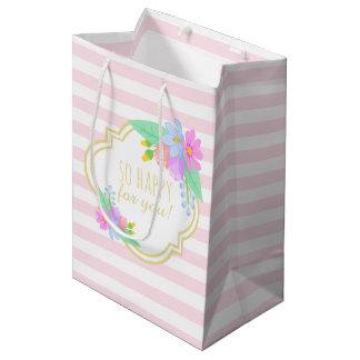 Sacola Para Presentes Média O primavera floresce o saco cor-de-rosa do
