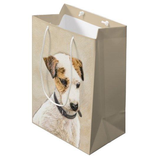 Sacola Para Presentes Média Parson Jack Russell Terrier