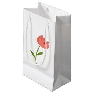 Sacola Para Presentes Pequena A flor inspirou o saco original do presente