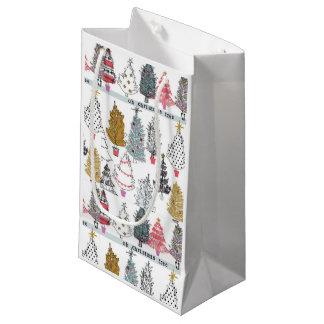 Sacola Para Presentes Pequena As bolsas do presente da colagem da árvore de