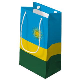 Sacola Para Presentes Pequena Bandeira de Rwanda