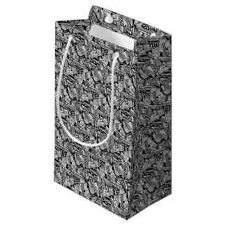 Sacola Para Presentes Pequena black-and-white-designs-5