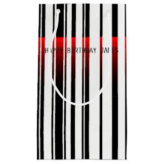 Sacola Para Presentes Pequena código de barras com o saco do varredor de laser