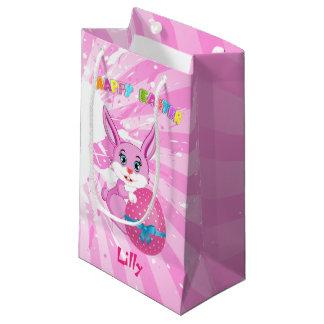 Sacola Para Presentes Pequena Desenhos animados cor-de-rosa do coelhinho da