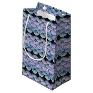 Sacola Para Presentes Pequena Escalas de papel polvilhadas da sereia