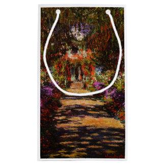 Sacola Para Presentes Pequena Monet-Caminho de Claude no jardim de Monet em