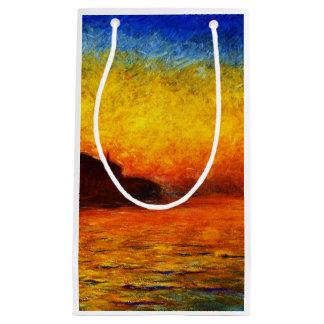 Sacola Para Presentes Pequena Monet-Por do sol de Claude em Veneza