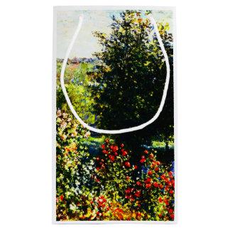 Sacola Para Presentes Pequena Monet-Rosas de Claude no jardim em Montgeron