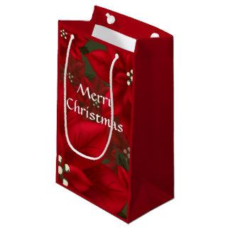 Sacola Para Presentes Pequena Natal vermelho SGB da poinsétia
