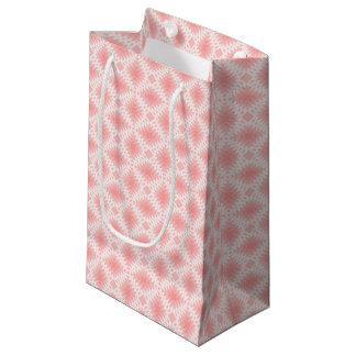 Sacola Para Presentes Pequena Ornamento cor-de-rosa & brancos - saco do presente