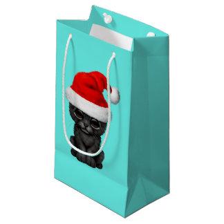 Sacola Para Presentes Pequena Pantera preta bonito Cub que veste um chapéu do