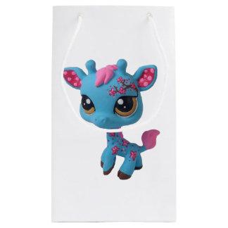 Sacola Para Presentes Pequena Saco do girafa da flor de cerejeira