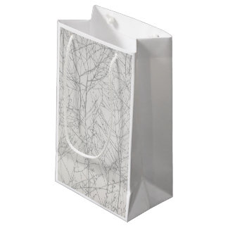 "Sacola Para Presentes Pequena Saco do presente da ""árvore"" da prata"
