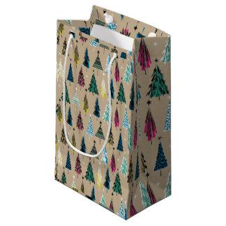 Sacola Para Presentes Pequena Saco do presente da árvore de Natal
