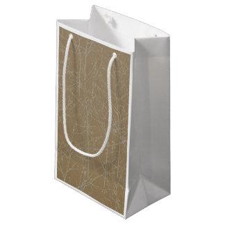 """Sacola Para Presentes Pequena Saco do presente da """"árvore"""" do ouro"""