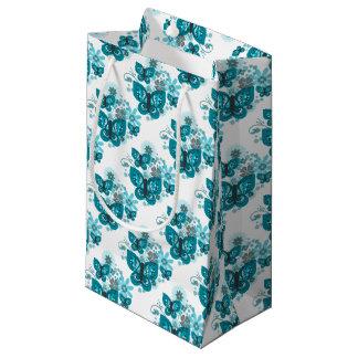 Sacola Para Presentes Pequena Saco do presente das borboletas & das flores