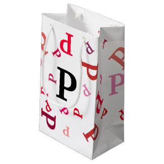 Sacola Para Presentes Pequena Saco do presente - letras misturadas nos vermelhos