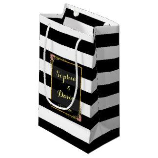 Sacola Para Presentes Pequena Saco floral do favor do casamento da listra da