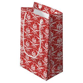 Sacola Para Presentes Pequena Saco vermelho & branco do presente do impressão do