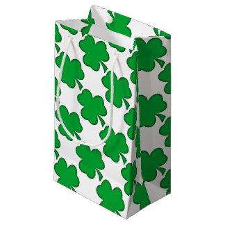 Sacola Para Presentes Pequena Trevo verde afortunado