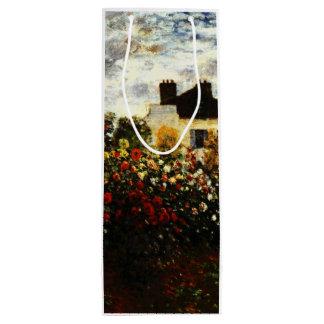 Sacola Para Vinho Jardim de Claude Monet-Monet em Argenteuil