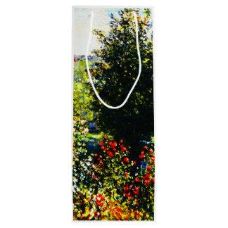 Sacola Para Vinho Monet-Rosas de Claude no jardim em Montgeron