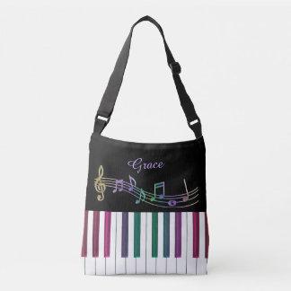 Sacola personalizada da música do piano do bolsas carteiro