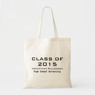 Sacola personalizada da sacola da graduação sacola tote budget