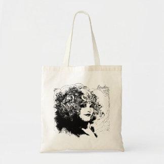 Sacola romântica da ilustração do vintage da bolsa tote