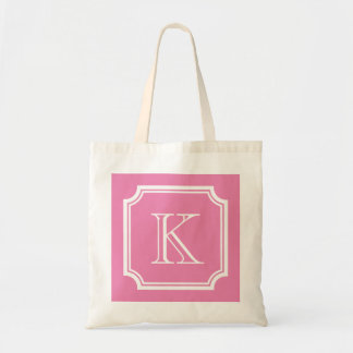 Sacolas cor-de-rosa e brancas à moda do casamento sacola tote budget