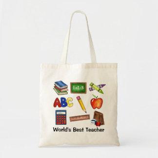 Sacolas do professor do mundo as melhores sacola tote budget