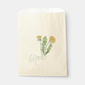 Sacolinha Cresça como um saco da semente da erva daninha