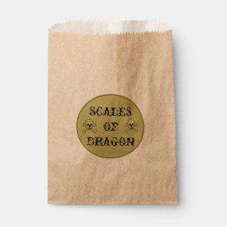 Sacolinha Escalas da etiqueta da poção da bruxa do dragão