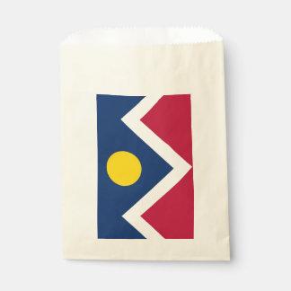 Sacolinha Favoreça o saco com a bandeira da cidade de