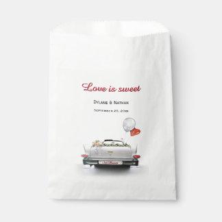Sacolinha O amor é doce - carro do recem casados