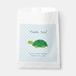 Sacolinha O favor de partido do chá de fraldas da tartaruga