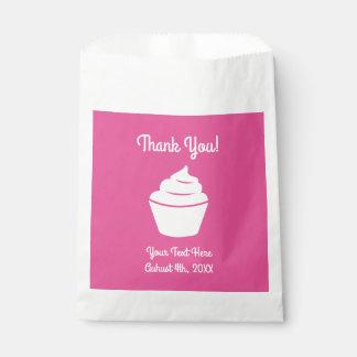 Sacolinha Obrigado bonito do chá de fraldas do cupcake você