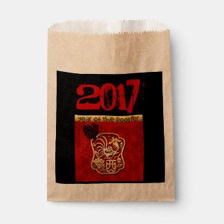 Sacolinha Saco 2017 chinês do favor do ano novo do galo do